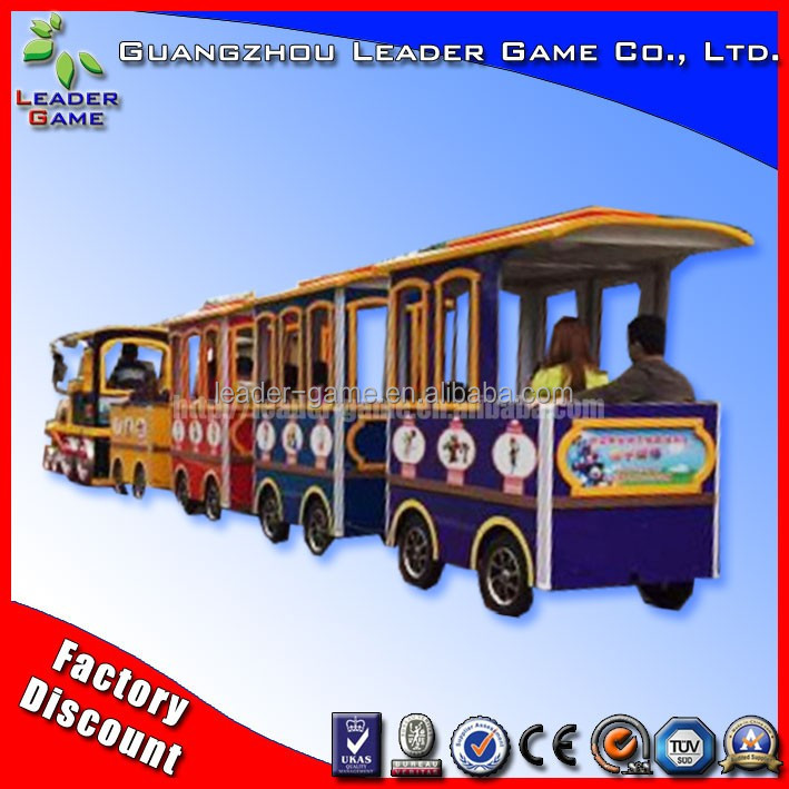 Kids ride fiberglass electric trackless diesel road train Indoor sale tourist trains