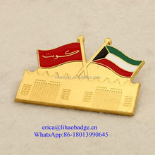 New custom national flag falcon pin badge and UAE national day 44 magnet lapel pin