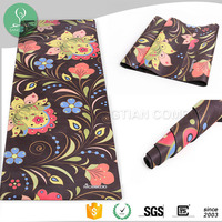 Natural Rubber Yoga Mat Custom Printed Yoga Pilate Mat Machine Washable