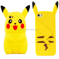 Eco-friendly silicone material Funny Pikachu new trend phone cases