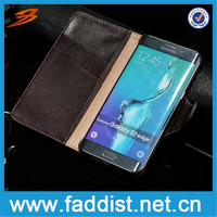 High quality for Samsung galaxy s7 edge case for Samsung galaxy s7 edge real leather wallet case