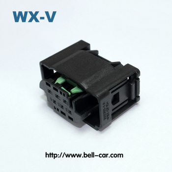 Free Sample 6 Pin Waterproof PBT GF15 Electrical Auto Connector Terminal Block 1-967616-1