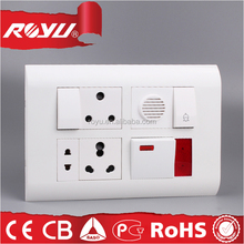 switch and socket wall ,Indian series wall light switch,module type SKD PC material electrical switch
