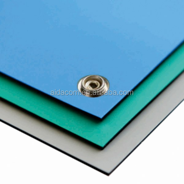 2 layers rubber Anti static mat Blue grounding esd mat