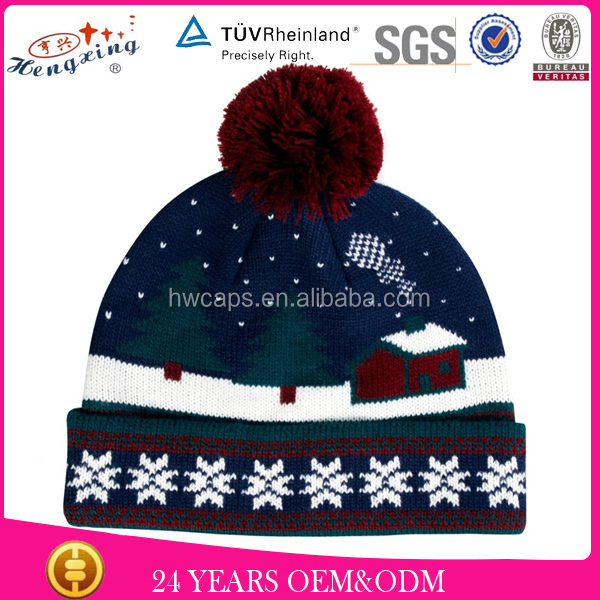 Custom Patch Woll Beanies Knitted Women Winter Hat