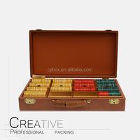 Game box Leather Wooden backgammon and chess case CY-NK4