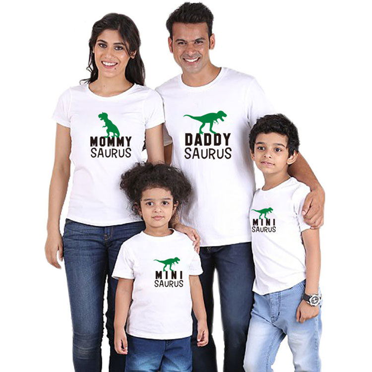 Cute animal print dinosaur t-shirt family t shirt custom design