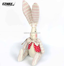 Lovely and eco-freidnly pink long ears plush bunny rabbit toys for girls