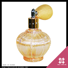 Best royal orange perfume branded factory large colored glass bottle