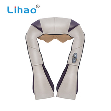 LIHAO Adjustable Pu Leather Neck Shoulder Massage Belt With Heat