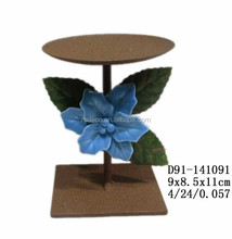 Ceramic miniature flower w/ candle holder
