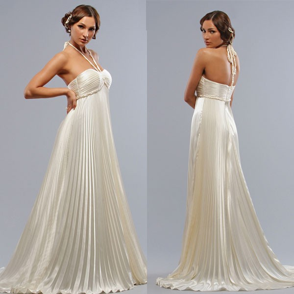 new halter designer pregnant women wedding dress