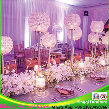Tall Crystal Globe Candle Stick for Wedding Table Centerpieces