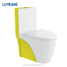 L865 yellow sanitary ware manufactuer siphonic color toilet one piece toilet europeanwc sanitary ware closet size toilet