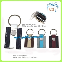 personalized and colorful leather keychain key ring
