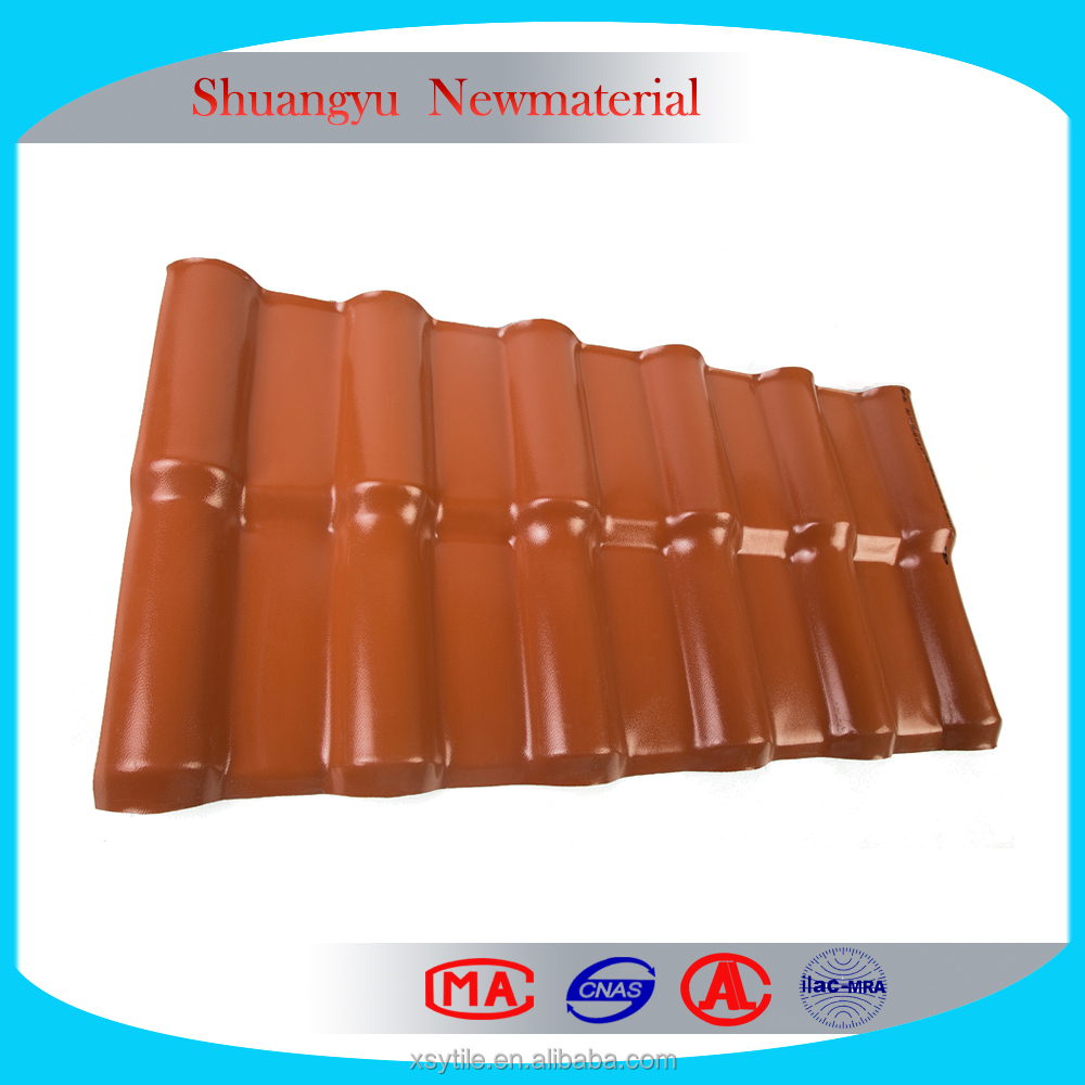 UV protected roofing tile/synthetic resin roof shingle