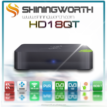 Android OTT+DVB Receiver Android Set Top Box HD18QT-T2 Amlogic S805 Quad-core 1G/8G Android 4.4 kitkat