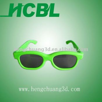 2014 hcbl custom color and size kids 3D glasses