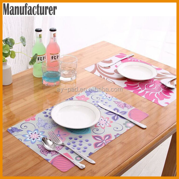 AY Colorful Flower Silicone Table Mats Center Table Mats Rubber Table Runner