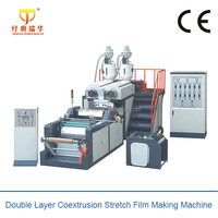 Single Layer/Double Layer Stretch Film Machine,Coextrusion PE Cling Film Blowing Machines