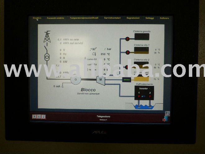 Software for managing Power Station with generating sets oil