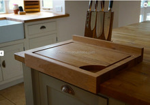 bamboo chopping board with lipped edge new design bamboo cutting borard with groove bamboo corner cutting baord wholesale