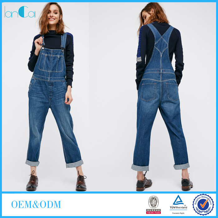 Hot Sale 2017 Fashion Style Women Denim SkinnyJeans Overalls Women Wholesale LC8399-N