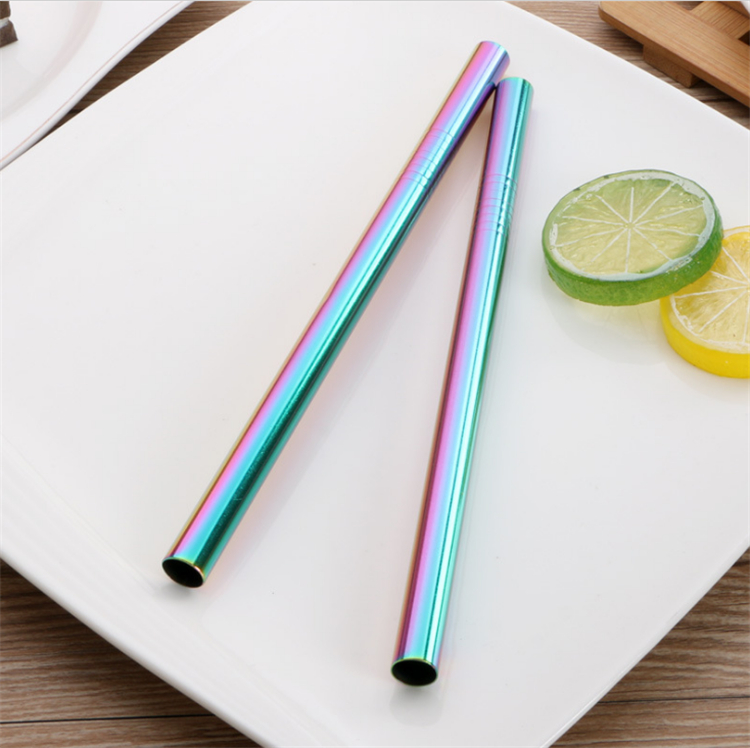 Food grade 12*215mm stainless steel bubble tea straw