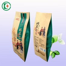 Best quality waterproof craft coated paper bags edge sealing bag with window