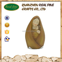 Wholesale custom new design catholic religious virgin mary and baby jesus souvenirs resin Imitation wood statue