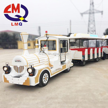 Amusement Outdoor Train Sets Adults kids rides steam trackless train for Sale