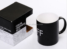 Changing color cups,hot changing color mug,heat sensitive changing colour cup