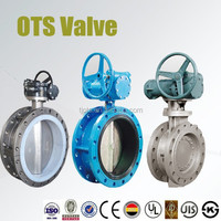 double flange concentric dn400 butterfly valve