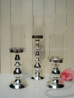 Romantic Metal Silver Plated Candle Holder Modern Home Decoration Wedding Decoration Gift