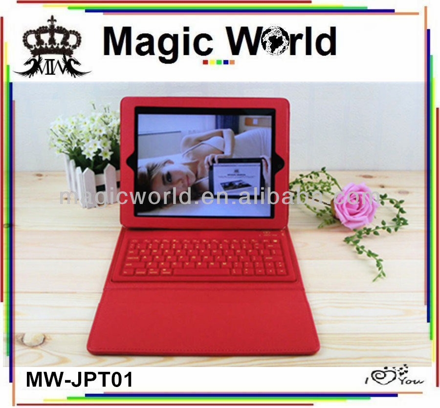 New fashion pu leather keyboard case for ipad 2.3.4