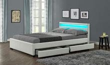 Storage Double Size Multi color LED white Soft PU leather Modern Bedroom Furniture led Bed WSB894-1