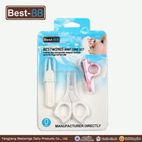 3pcs baby nail care kit for booger tweezer and nail clipper & beauty scissor