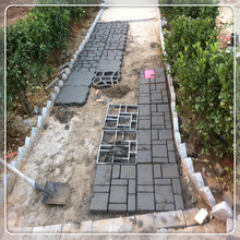 Random Shape Paver mould Large 500 x 500 x 40mm cobblestone concrete path patio