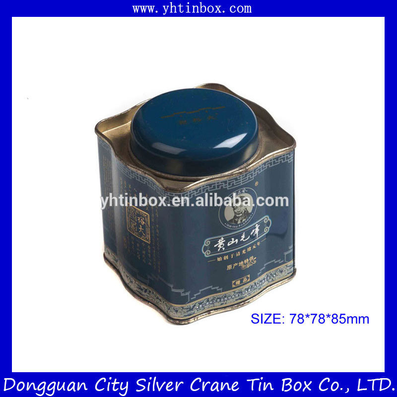 wholesale decorative tea tin box/ gift tin box for tea packaging