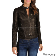 women's leather jackets,zipped lambskin leather jacket women