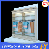 apparel shop design high end clothing rack display furniture clothes boutique shop fitting and rack