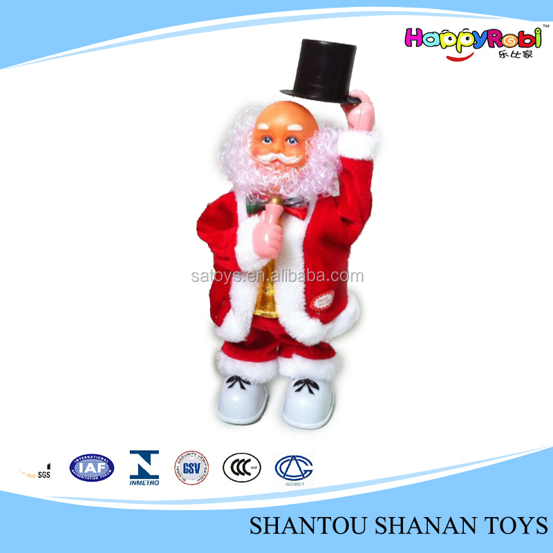 Christmas item gift moving musical santa claus