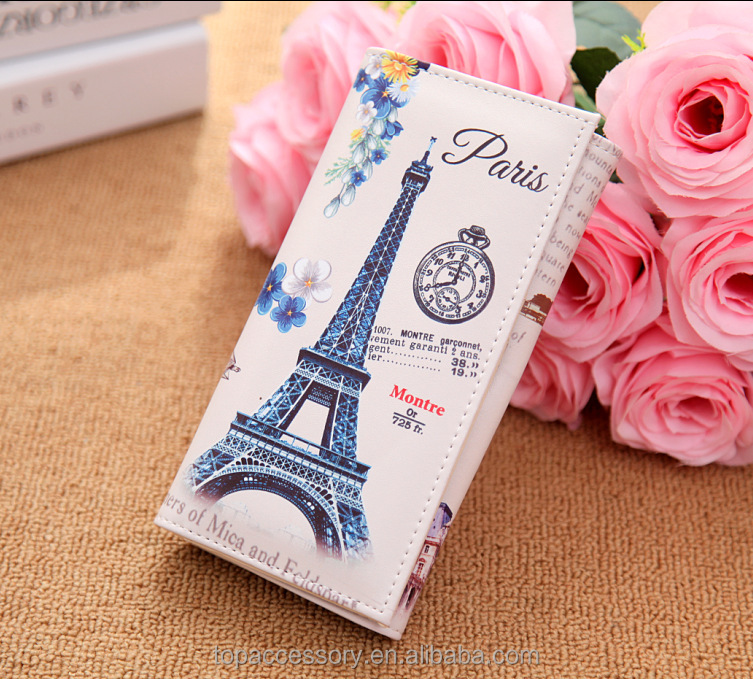 Fashion Cute Cartoon Printed Different Style PU Leather Purse For Girl Woman Wholesale