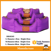 High quality Customized Purple plush dog bed manufacture