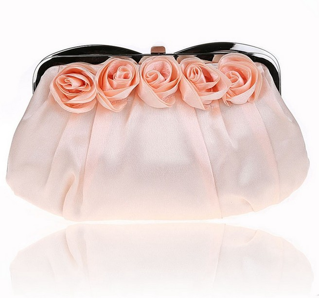 D14231A 2014 NEW DESIGN ROSE FLOWER SPEACIAL HANDBAG EVENING BAG