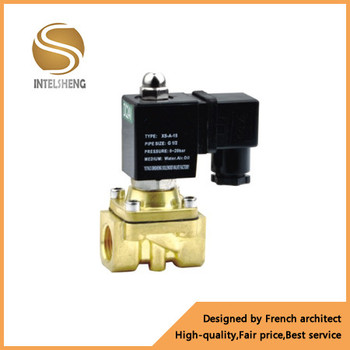 Factory direct 24v dc electric actuator valve hot water brass solenoid valve