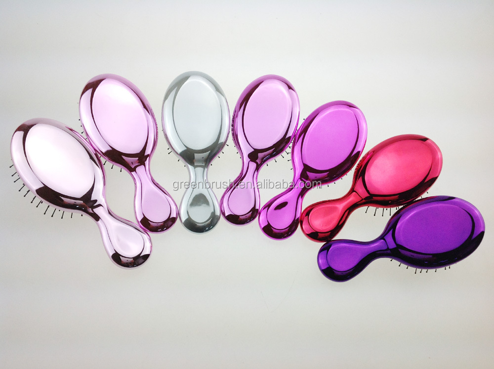 chromed fashion hair brush