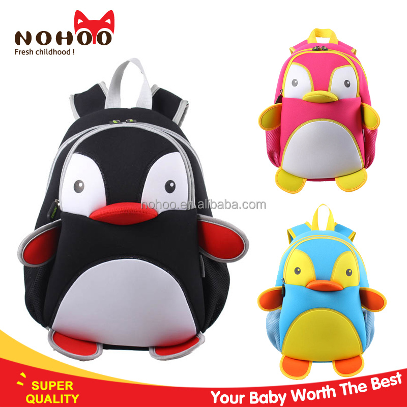 Personalized children school bag kids 3d cartoon zoo animal backpack Nohoo brand Guangzhou