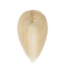 #613 blonde Women Hair Piece Topper Hairpiece 8A Human Hair Top Wig Toupee For Thinning Hair
