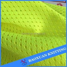 fluorescence bright yellow mesh fabric for traffic police vest
